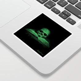 Memento mori - jungle green Sticker