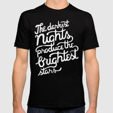 Darkest Nights Mens Fitted Tee Black MEDIUM