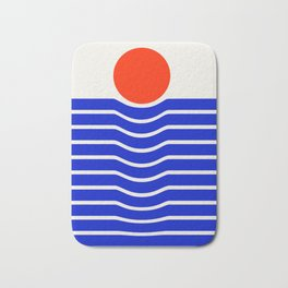 Going down-modern abstract Bath Mat
