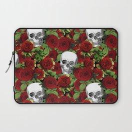 Vintage Skulls and Roses Laptop Sleeve