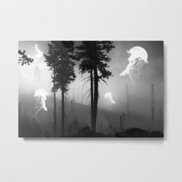 Jellyfish forest Metal Print