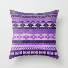 Native Spirit (Purple) Throw Pillow