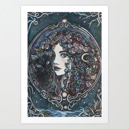 Rosa Lune Art Print