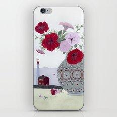 Petunias and Seascape iPhone & iPod Skin