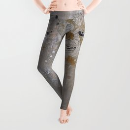 Silver and Gold Abstract Leggings
