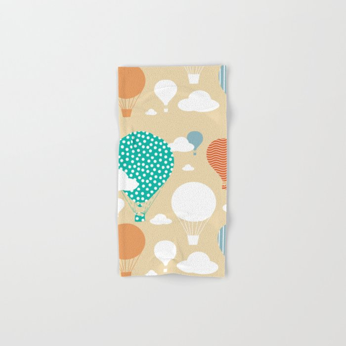 Hot air balloon neutral Hand & Bath Towel