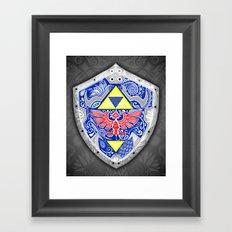 Zelda's shield - black Framed Art Print
