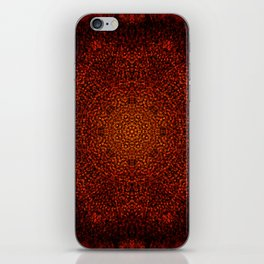 Yellow & Red Sunflower Mandala iPhone Skin