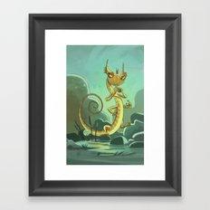 Goblins Drool, Fairies Rule! - Salamander Snoop Framed Art Print