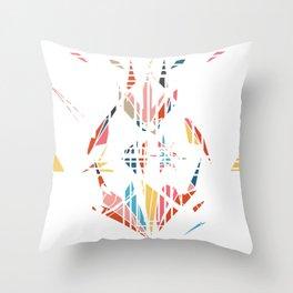 Medusa's Scream on White Throw Pillow