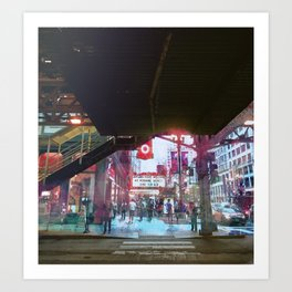 Chicago - State and Lake Art Print