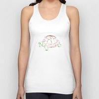 turtle Tank Tops featuring turtle by Aata