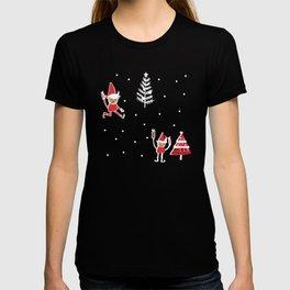Santa Elf Blue Red  #Christmas #holiday T-shirt