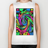 psychedelic Biker Tanks featuring Psychedelic by Michael Moriarty Photography