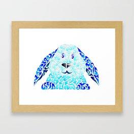Blue Lapinou Framed Art Print