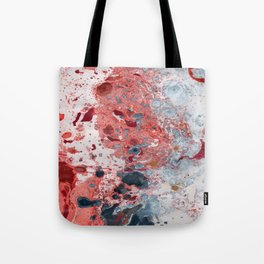 Marble art: colaide of warm and cold Tote Bag