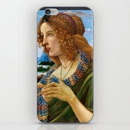 """Sandro Botticelli """"Allegorical Portrait of a Lady (Simonetta Vespucci ?)"""" iPhone Skin"""