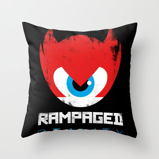 Rampaged Reality Throw Pillow