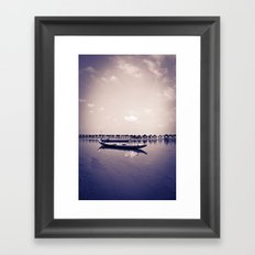 Mekong still Framed Art Print