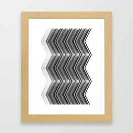 Sideline - Black and White Minimal Geometric Art Framed Art Print