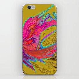 Metamorphosis with me-chartreuse iPhone Skin
