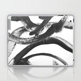 Interlock black and white paint swirls Laptop & iPad Skin