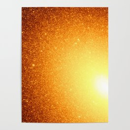 Copper Stars Ombre Poster