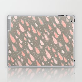Dusty Rose Rain Drops Laptop & iPad Skin