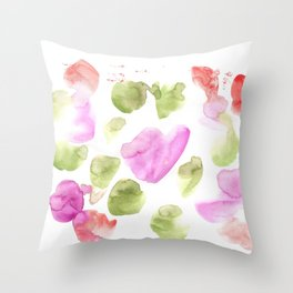 170722 Colour Living 20  |Modern Watercolor Art | Abstract Watercolors Throw Pillow