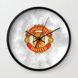FC Manchester United sketch Wall Clock