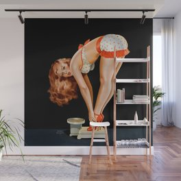 Pin-Up Beauty on Scales by Peter Driben Wall Mural