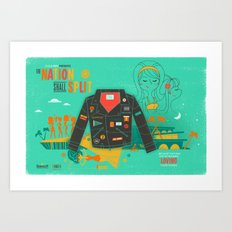 The Nation Shall Split Art Print