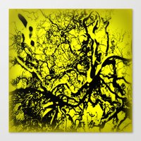 inner demons Canvas Prints featuring Demons  by Eve Penman