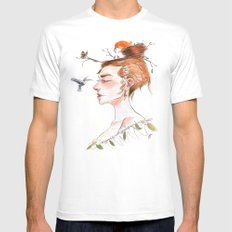 Nested MEDIUM Mens Fitted Tee White