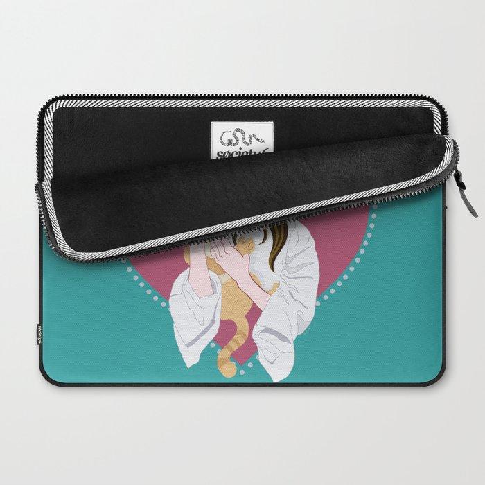Holly Golightly's cat / Audrey Hepburn Laptop Sleeve