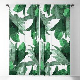 Tropical Palm Print Blackout Curtain