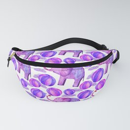 cute elephant clouds ball pattern Fanny Pack