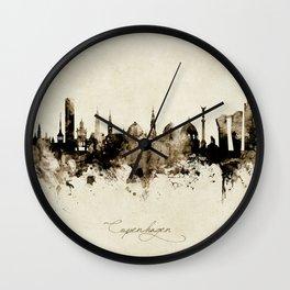 Copenhagen Denmark Skyline Wall Clock