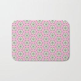 Bright Pink Flowers Bath Mat