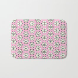Bright Pink Flowers Bath Mat