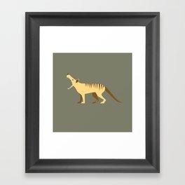 EXTINCT: Thylacine (Tasmanian Tiger) Framed Art Print