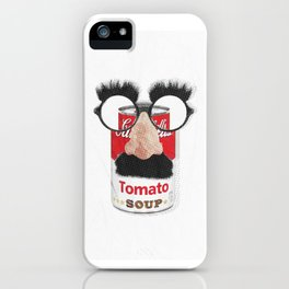 GROUCHO LOVES TOMATO SOUP RED iPhone Case