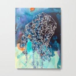 Empty Nest in Indigo Fade Metal Print