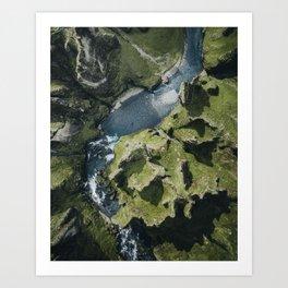 Iceland Canyon Art Print