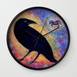 Mr. Raven, Meet Miss Spider Wall Clock