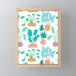 Houseplant Garden Framed Mini Art Print