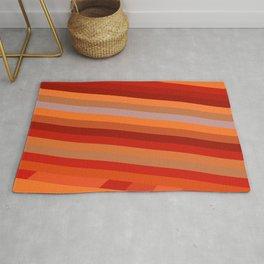 Wild Red Stripes Rug