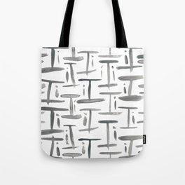 Watercolor I's - Grey Gray Tote Bag