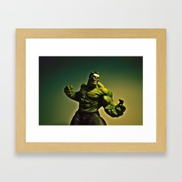 Mad Hulk Framed Art Print