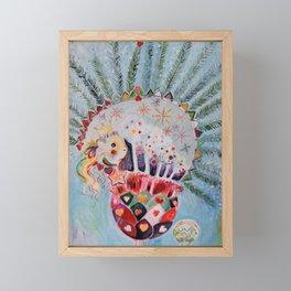 Xmas Guinea Pig Framed Mini Art Print
